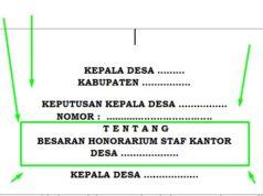 Contoh Surat Keputusan Kepala Desa Tentang Tim Pelaksana
