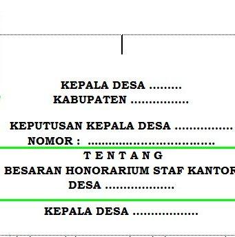 Contoh Surat Keputusan Pendampingdesa